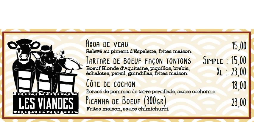 viandes restaurant bayonne specialite basque